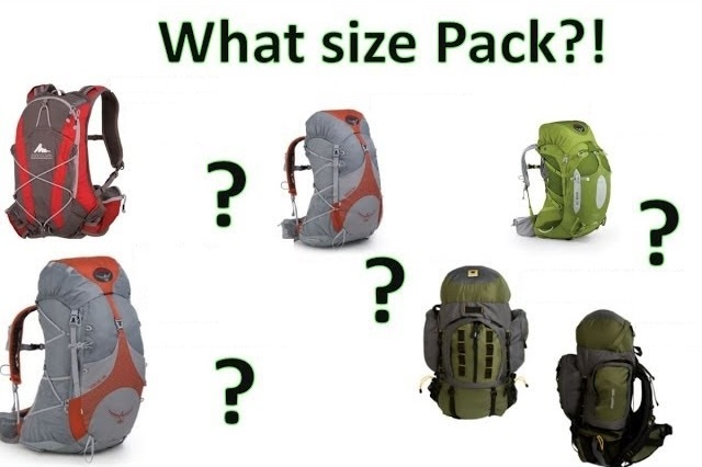How to Size A BackPack
