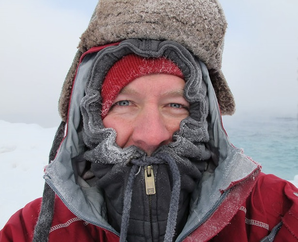 Person in layers in winter