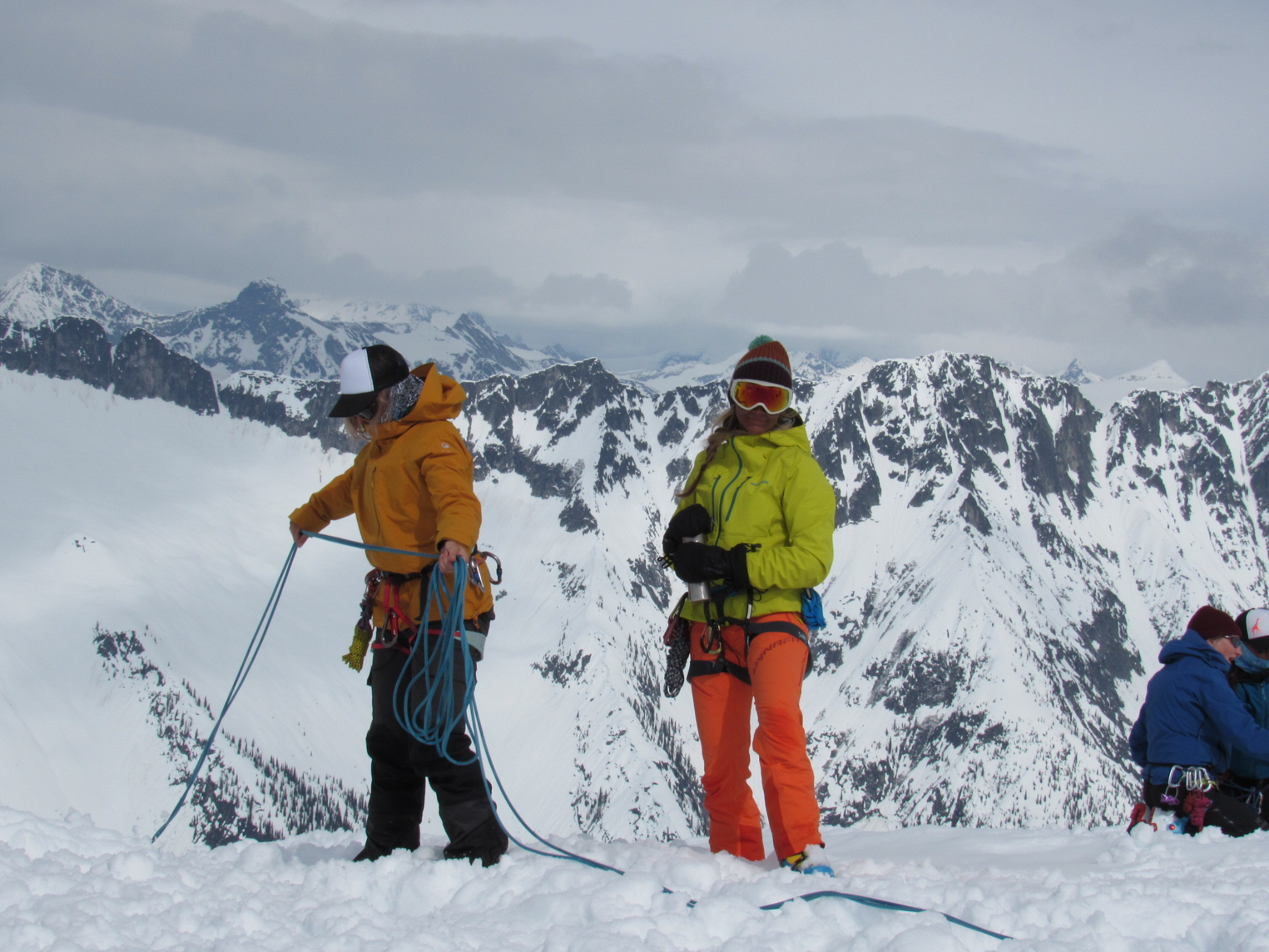 people learning backcountry concepts