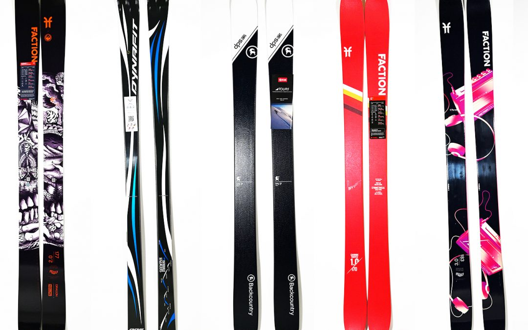 skis of different height
